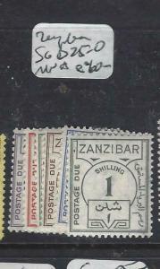 ZANZIBAR   (P3004B)  POSTAGE DUES SG D25-0  MNH