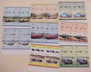 ST. KITTS NEVIS 8 DIFF. STAMPS IMPERF AUTO PAIRS MINT NH