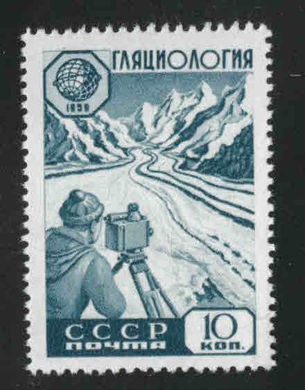 Russia Scott 2232 MNH** Glacier survey stamp from 1959