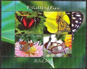 Malawi 2012 Butterflies (2) MNH Cinderella !