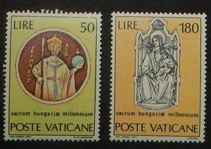 Vatican City 513-14. 1971 St. Stephen, NH