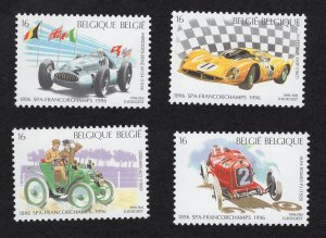 Belgian Scott 1618-1621, MNH Racing Cars