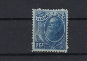 hawaii 1894 used / unused   25 cent stamp no gum  ref r13082