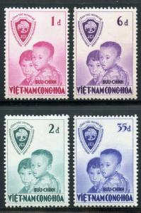 VIET NAM SCOTT# 59-62 OPERATION FRATERNITY MINT NEVER HINGED AS SHOWN