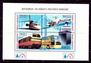 Turkey 2660 MNH 1990 Transportation S/S    (ap4214)