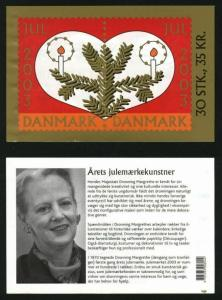 Denmark.  Booklet 2003 With 30 Christmas Seals Mnh. Santa,Birds, Bells.