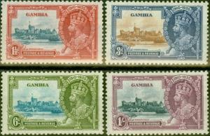 Gambia 1935 Jubilee set of 4 SG143-146 Fine Very Lightly Mtd Mint