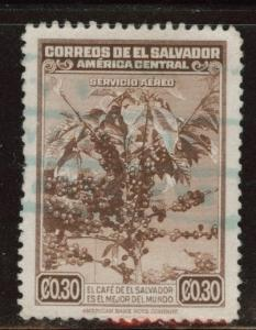 El Salvador Scott C76 used 1940 Coffee airmail