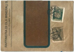71983 -  ITALIA: FIUME - STORIA POSTALE  - Francobolli su  BUSTA  1923