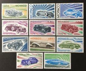 Monaco 1975 #980-90 MNH(see note), CV $22.55