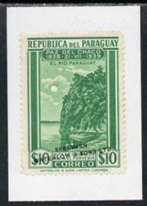 Paraguay 1940 colour trial proof of 10p Fishing (SG 540) ...