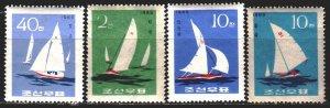 North Korea. 1965. 666-69. Sailing. MNH.