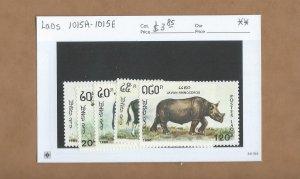 Laos  1015A-1015E  MNH