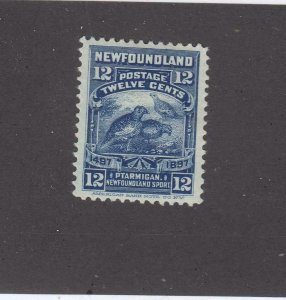 NEWFOUNDLAND # 69 VF-MH 12cts WILLOW PLAMIGAN CAT VALUE $40