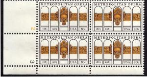 2054 Mint,OG,NH... Plate Block of 4... SCV $1.75