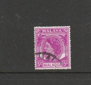 Malaya Malacca 1954/7 5c FU SG 26