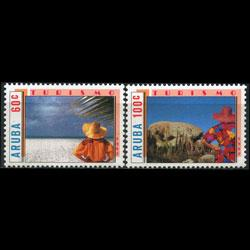 ARUBA 1987 - Scott# 27-8 Tourism Set of 2 NH