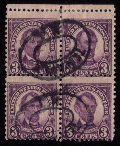 US Sc 635a Used Zip Block Of FourMisperfBright VioletFine