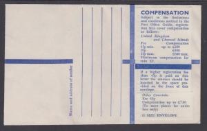 Guernsey, unused, Registered Entire, G size envelope