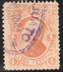 MEXICO-(Guanajuato) 105b, 4¢ WITHOUT NUMBERS OR DISTRICT NAME. USED.VF. (1003)