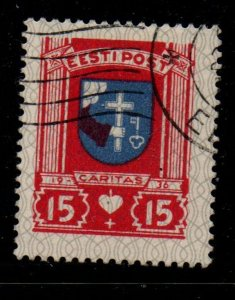 Estonia Sc B29 1936 Parnu Coat of Arms Charity stamp used