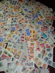 ECUADOR EQUATEUR Stamp collection lot accumulation stockbook +bags +7000 stamps
