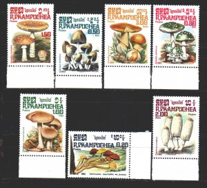 Kampuchea. 1985. 648-54. Mushrooms. MNH.