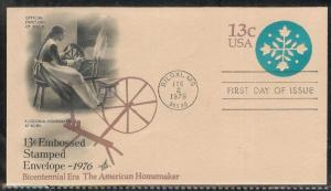 U572 American Homemaker Postal Stationary Unaddressed ArtCraft FDC