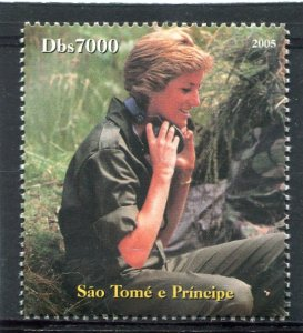 Sao Tome & Principe 2005 Princess DIANA set 1v Perforated Mint (NH)