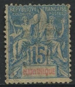 Martinique -Scott 40 - Navigation - 1892 - FU- 15c Stamp