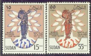 Sudan 128-29 MNH 1969 World Refugee Year