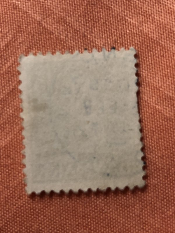 15ore green used Danmark postage Stamp