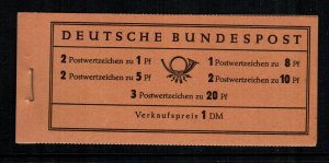 Germany 737a  MNH cat $ 23.00 complete booklet