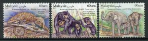 Malaysia Stamps 2019 MNH Wildlife Conservation Elephants Pangolin Bears 3v Set
