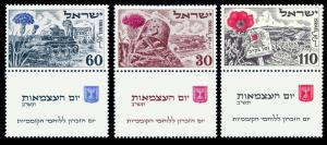 1952 Israel 69-71Tab Israel Independence Day 35,00 €