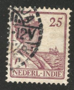 Netherlands Indies  Scott 126 used  from 1912-20 set