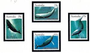 Australia 821-24 MNH 1982 Whales    (ap6158)