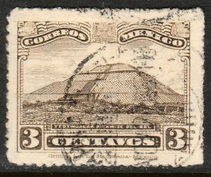 MEXICO 651, 3cents, PYRAMID OF THE SUN, USED. F-VF.  (417)