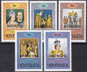 Barbuda #349-53 MNH  (SU7672)