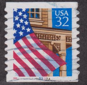 US #2915A Flag over Porch Used PNC Single plate #77777A
