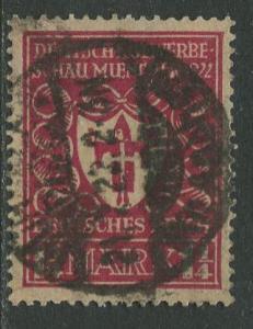 GERMANY. -Scott 212 - Definitives -1922- Used - Wmk 126 - Single 1.25m Stamp