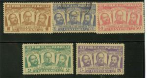 Paraguay 481-485 Mint VF H See desc.