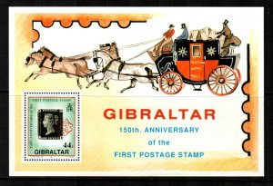 Gibraltar 1990  # 573 MNH  Souvenir Sheet ,Penny Black 150th