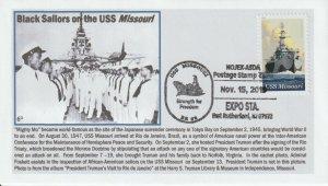 6° Cachets USS Missouri w/ Black Sailors NOJEX show cancel