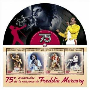 2021/06- TOGO - FREDDIE MERCURY           4V    MNH **
