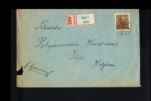1937 - Hungary Cover - From Pécs [B07_081]