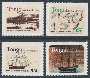 Tonga #489-92 NH Discovery of Vavau