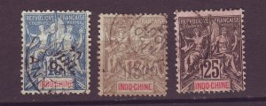 J25501 JLstamps 1892-1900 indo-china used #10-11,13 designs