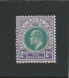 NATAL 1904-08 2s DULL GREEN & BRIGHT VIOLET LMM SG 156 CAT £70