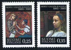 Finland 431-432,MNH.Michel 598-599. Painter Aksell Gallen-Kallela,1965.